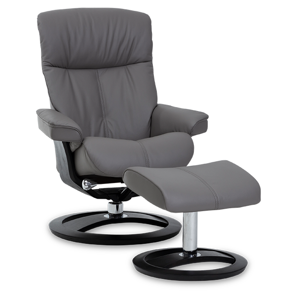 IMG Comfort Oak Infinity Recliner Black - Oaten's in Casino, NSW
