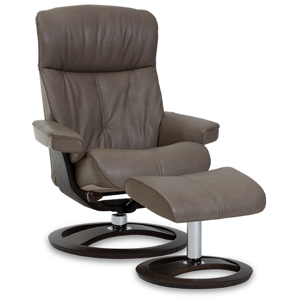 IMG Comfort Oak Infinity Recliner Brown - Oaten's in Casino, NSW