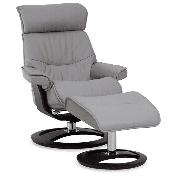 IMG Comfort Oak Conrad Recliner Gray - Oaten's in Casino, NSW